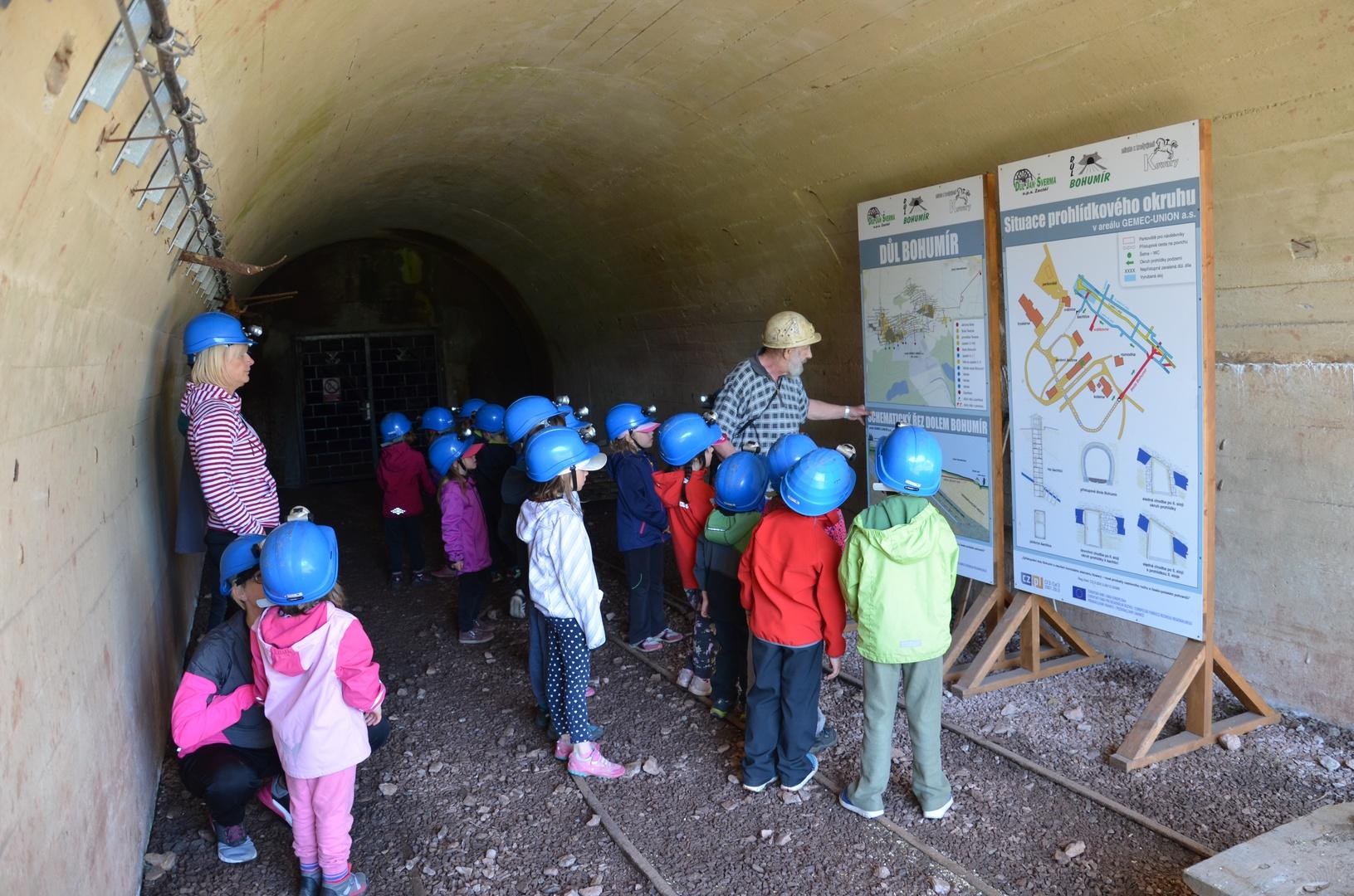 Důl Bohumír - děti